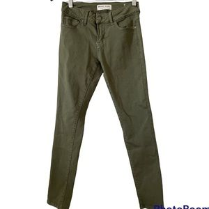 Body skinny ankle jeans army green size 25